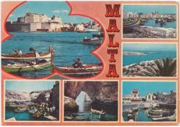 MALTA, Multi View, Used Postcard [19007] - Malta