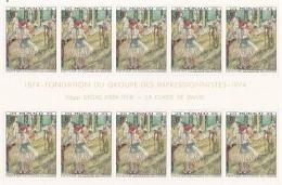 MONACO - 1974 - TABLEAUX - IMPRESSIONISTES - YVERT Nº 967-972 - ***MNH - 10 SERIES - Unused Stamps