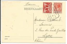 PAYS BAS CARTE DE UTRECHT EINDHOVEN POUR LA FRANCE DU 21/1/19028 - Marcofilia