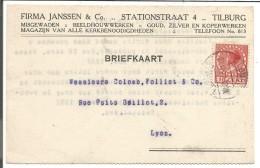 PAYS BAS CARTE DE TILBURG POUR LA FRANCE DU 22/12/1927 - Postal History