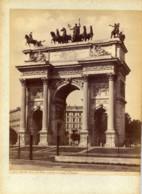 ITALIE-MILANO- Arco Della Pace,Tirage Albuminé Monté Sur Carton Circa 1880  Edizioni BROGI - Lieux