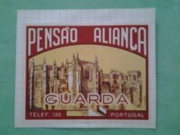 Étiquette  Hotel ALIANCA  GUARDA - Etiquetas De Hotel