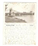 GB POST CARD - LONDRES LONDON SUSPENSION BRIDGE - 22/1/1901 POUR RAMBERVILLERS VOSGES - 2 Scans - - Other