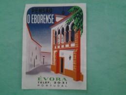 Étiquette  Hotel  Pensao O EBOREBSE  EVORA - Etiketten Van Hotels
