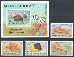159 MONTSERRAT 1990 - Yvert 747/50 BF 57 - Poisson Etoile De Mer - Neuf ** (MNH) Sans Trace De Charniere - Montserrat