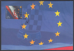"Croatia 2013, Maximum Card ""  Croatian Accession To EU"" - Instituciones Europeas"