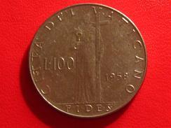 Vatican - 100 Lire Pie XII 1958 2933 - Vatikan