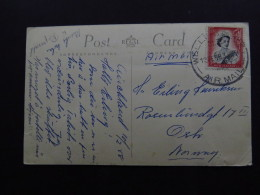 Postcard New Zealand Air Mail Ellerslie Racecourse Auckland 1933 - Postkaarten