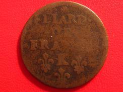 Liard De France Louis XIV 1657 K Bordeaux - Très Grand 7 Refrappé Sur 7 Normal 2684 - 987-1789 Monnaies Royales