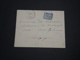 FRANCE - Type Mouchon Seul Sur Enveloppe Pour La Belgique 1903 - A Voir - L 4492 - 1877-1920: Période Semi Moderne