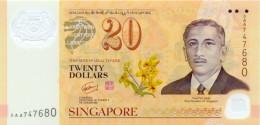 Singapore 20 Dollar 2007 Pick 53 UNC - Singapore