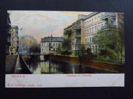 Postcard Postkarte Germany Deutschland Leipzig Quaistrasse Mit Westbrücke Unused - Cartoline