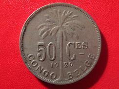 Congo Belge - 50 Centimes 1929 - Variété 9 Sur 8, 9.8 4819 - Congo (Belge) & Ruanda-Urundi