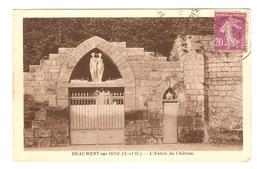 95 - BEAUMONT SUR OISE L'ENTRÉE DU CHATEAU - ÉDITIONS FRÉMONT - 31 DÉCEMBRE 1933 - 2 Scans - - Beaumont Sur Oise