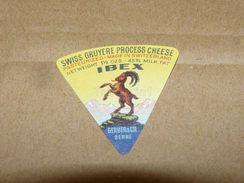 Cheese Queso Kase Label Etikette Etiqueta ~1920-1950 SUISSE GRUYERE IBEX BERNE ZIEGE - Quesos
