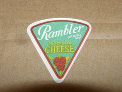 Cheese Queso Kase Label Etikette Etiqueta ~1920-1950 PROCESSED RAMBLER - Quesos