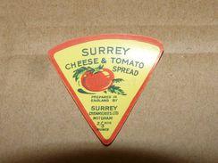Cheese Queso Kase Label Etikette Etiqueta ~1920-1950 SURREY TOMATO SPREAD MITCHAM ENGLAND - Quesos
