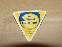 Cheese Queso Kase Label Etikette Etiqueta ~1920-1950 MC FINEST GRUYERE ENGLAND - Quesos