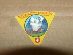 Cheese Queso Kase Label Etikette Etiqueta ~1920-1950 BERNE SWITZERLAND KUH COW - Quesos