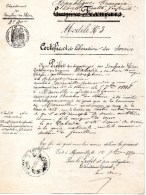 MARSEILLE CERTIFICAT D'EXEMPTION DU SERVICE MILITAIRE DU 12 SEPTEMBRE 1870 - Documents