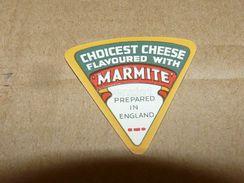 Cheese Queso Kase Label Etikette Etiqueta ~1920-1950 MARMITE ENGLAND - Quesos