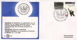 Nederland - Zegelkoerier Nederlandse Poststempels - 500 Jaar Oeververbinding/Nieuw Postperron - Deventer - Nr. 168 - Marcofilie - EMA (Print Machine)