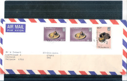 Cover From Tuvalu To Belgium - 1986 (to See) - Tuvalu