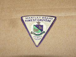Cheese Queso Kase Label Etikette Etiqueta ~1920-1950 MARTLET BRAND ENGLAND GRUYERE - Quesos