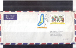 Cover From Tuvalu To Belgium  (to See) - Tuvalu