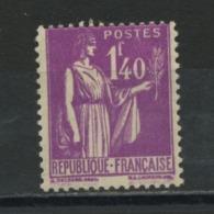 FRANCE -  1,40 LILAS TYPE PAIX - N° Yvert 371* - 1932-39 Frieden