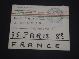 COTE D ' IVOIRE - Enveloppe En Franchise Pour L ' Ambassadeur Du Canada à Paris En 1967 - A Voir - L 4511 - Côte D'Ivoire (1960-...)