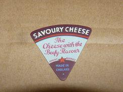 Cheese Queso Kase Label Etikette Etiqueta ~1920-1950 SAVOURY BEEF ENGLAND - Quesos