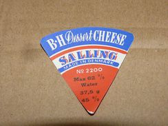 Cheese Queso Kase Label Etikette Etiqueta ~1920-1950 BH DESSERT SALLING DENMARK - Quesos
