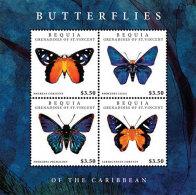 BEQUIA Of ST.VINCENT ; SCOTT # ; IGPC 1213 SH ; MINT N H STAMPS (  BUTTERFLIES - St.Vincent & Grenadines