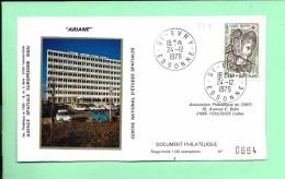 ENVELOPPE: Fusée Ariane, Evry 24-12-1979