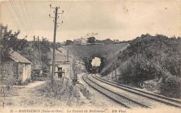 78-BONNIERES-SUR-SEINE- LE TUNNEL DE ROLLEBOISE ( TRAIN ) - Bonnieres Sur Seine