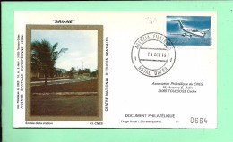 ENVELOPPE: Fusée Ariane, Natal Brésil 24-12-1979