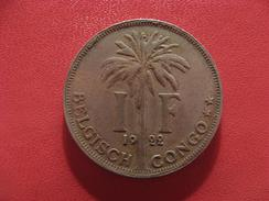 Congo Belge - Franc 1922 Albert Koning Der Belgen 2592 - Congo (Belge) & Ruanda-Urundi