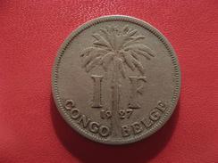 Congo Belge - Franc 1927 Albert Roi Des Belges 2590 - Congo (Belge) & Ruanda-Urundi