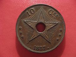 Congo Belge - 10 Centimes 1887 - Frappe Médaille 2548 - 1885-1909: Leopold II