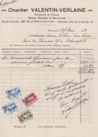 LEUVEN-KESSEL-LO-BLAUWPUT-ENTREPRISE DE PIERRES BLEUES ET MONUMENTS-CHANTIER-VALENTIN-VERLAINE-1932-TAKSZEGELS-MOOI ! ! - Belgium