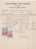 LEUVEN-KESSEL-LO-BLAUWPUT-ALEXANDER VAN PARYS-ONDERNEMER-GEMEENTESTRAAT-1934-TAKSZEGELS-MOOI ! ! - Belgium