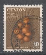 Ceylon (Sri Lanka) 1954. Scott #329 (U) King Coconuts * - Sri Lanka (Ceylan) (1948-...)