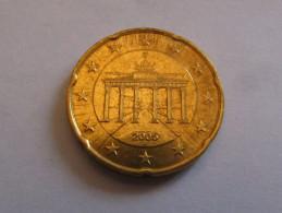 20 Euro Cent 2005 J Deutschland Germany Allemagne! Rare! - Deutschland