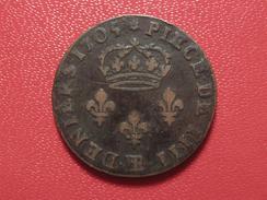 4 Deniers Louis XIV 1705 BB Strasbourg 9910 - 987-1789 Monnaies Royales
