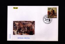 Kroatien / Croatia 1999 Johann Strauss Music FDC - Muziek
