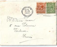 Enveloppe   Cachet  Au  Départ  De  DOVER   (  Etats - Unis )  à  Destination  De  Toulouse ( 31 )     ^^ - Amérique Centrale