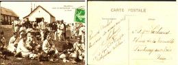 """CP  MORBIHAN  """" CAMP DE COUETQUIDAM """"   1908 - Barracks"""