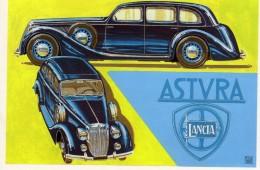 Lancia Astura  Serie IV Limousine  -  1937   -  Illustrateur Aldo Brovarone  -  Carte Postale - Turismo