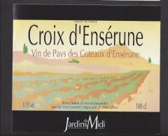 Etiquette De Vin De Pays Des Coteaux D'Ensérune  -  Croix D'Ensérune  -  Guével à 29410 - Labels